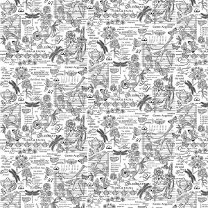 Рогожка 150 см набивная арт 904 Тейково рис 30098 вид 2 Версаль
