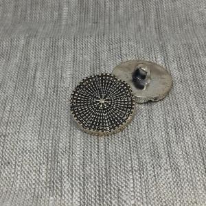 Пуговица ПР173 15 мм серебро черная эмаль уп 12 шт