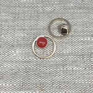 Пуговица ПР176 15 мм красная уп 12 шт