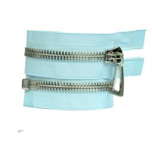 Молния металл №10СТ никель разьем 65см D143 светло голубой