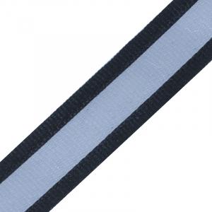 Тесьма со светоотражающей лентой 2,5см черный 1 м