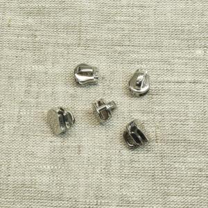 Слайдер галантерейный №5 никель без подвеса