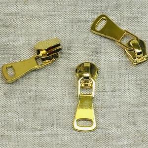 Бегунок галантерейный двойное звено №8 БГ 8001G золото