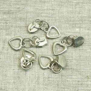 Бегунок галантерейный спираль №5 С5-002 никель