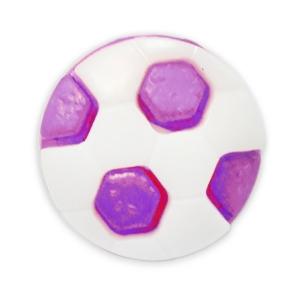 Пуговица детская сборная Мяч 16 мм цвет сиреневый упаковка 24 шт