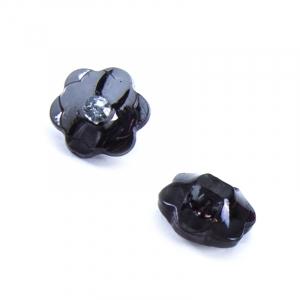 Пуговицы Блузочные со стразой Цветок проз 13 мм цвет А085 черный упаковка 24 шт
