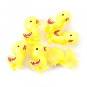Пуговица детская на ножке Цыпленок 21 мм цвет желтый упаковка 12 шт