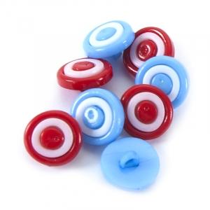Пуговица детская сборная на ножке Колесо 14 мм цвет голубой упаковка 24 шт