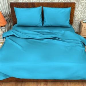 Поплин гладкокрашеный импортный 220 см 115 гр/м2 цвет голубой