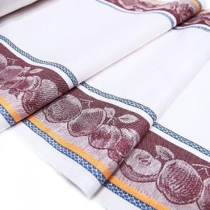 Полулен полотенечный 50 см Жаккард цвет вишнёвый