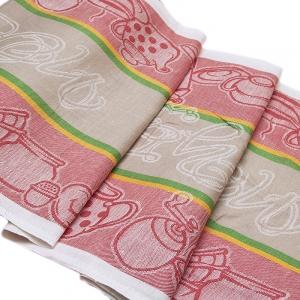Ткань на отрез полулен полотенечный 50 см Жаккард 3547/29