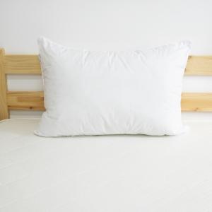 Подушка Лебяжий пух Перо серебро на белом 50/70
