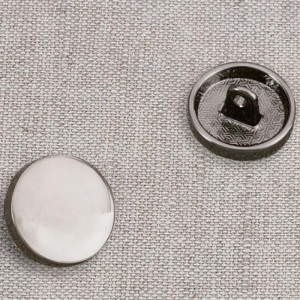 Пуговица металл ПМ57 15мм черный никель глянец уп 12 шт
