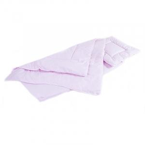 Набор в коляску 3 предмета Однотонный цвет розовый бязь