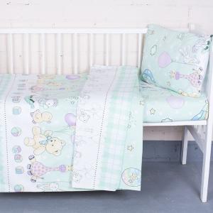 Постельное белье в детскую кроватку из бязи ГОСТ 92972 с простыней на резинке