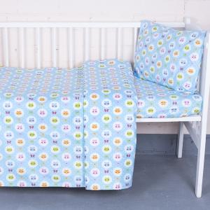 Постельное белье в детскую кроватку из бязи ГОСТ 92222 с простыней на резинке