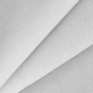 Ткань на отрез рогожка 150 см 17600 цвет серебристый