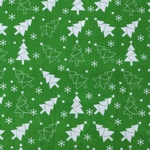 Ткань на отрез поплин 150 см 427/9 цвет зеленый