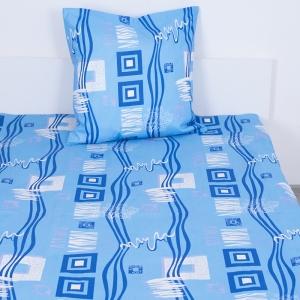 Комплект простыня 1.5 сп + 1 нав. 70/70 бязь 348/1 Пикассо цвет голубой