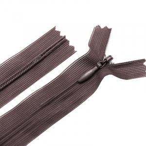 Молния пласт потайная №3 50 см цвет т-коричневый