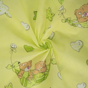 Ткань на отрез бязь 120 гр/м2  детская 150 см Мишки Тедди