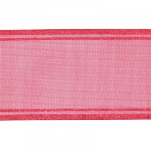 Лента для бантов ширина 80 мм (25 м) цвет малина