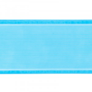 Лента для бантов ширина 80 мм (25 м) цвет бирюзовый