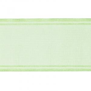 Лента для бантов ширина 80 мм (25 м) цвет салатовый