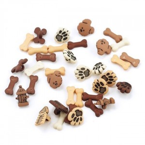 Набор пуговиц JESSE JAMES 1776 ASSORTED ITEMS-TINY DOGS 1 упак
