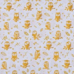 Перкаль 150 см набивной арт 140 Тейково рис 13273 вид 1 Little owls Компаньон