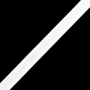 Тесьма эластичная белая 7 мм уп 100 м