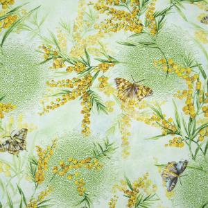 Ткань на отрез рогожка 150 см 206061Р Дары весны 1 зел.