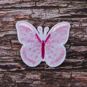 Термоаппликация ТАП В32 бабочка розовая 5*6,5см
