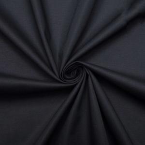 Ткань на отрез поплин гладкокрашеный 220 см 115 гр/м2 цвет черный Актив