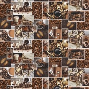 Полотно вафельное 150 см набивное арт 149 Тейково рис 30166 вид 1 Аромат кофе