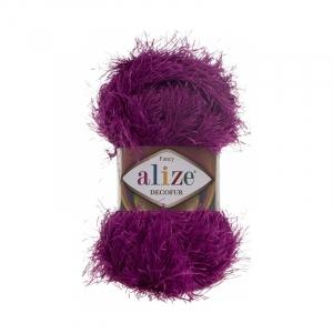 Пряжа ALIZE DECOFUR 621-темная фуксия (100% полиэстер)