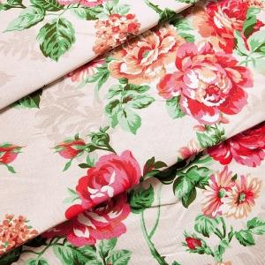 Рогожка 150 см Розалия 8121 цвет красный
