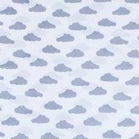 Ткань на отрез бязь плательная 150 см 1745-А/17 цвет серый