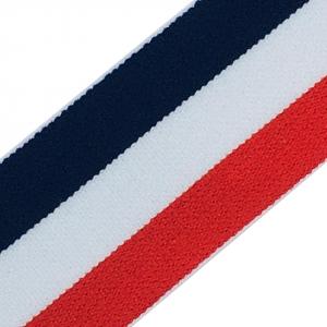 Резинка декоративная 2280 красный белый синий 4 см
