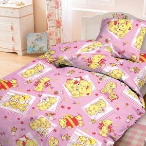 Бязь 120 гр/м2  детская 150 см 543/2 Плюшевые мишки цвет розовый