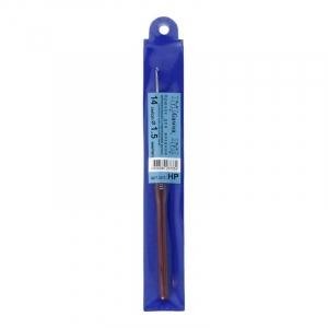 Крючок для вязания с пласт. ручкой Гамма 1.5мм 14см НР (сталь)