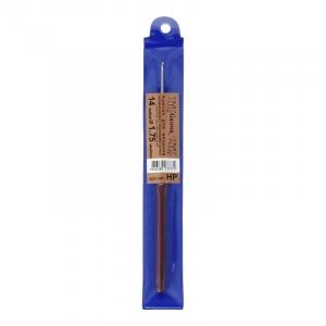 Крючок для вязания с пласт. ручкой Гамма 1.75мм 14см НР (сталь)