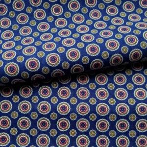 Ткань на отрез фланель 150 см 017F-3 Круги цвет синий