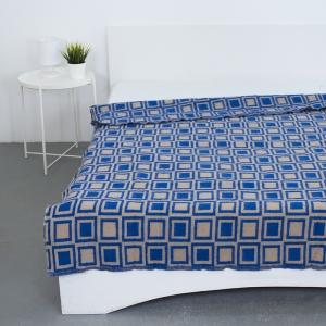 Одеяло полушерсть 500 гр/м2 цвет синий 150/200 см