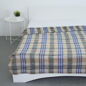 Одеяло полушерсть 420 гр/м2 цвет синий 150/200 см