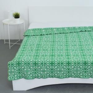 Одеяло п/ш жаккардовое 420 гр/м2 цвет кельт зеленый 190/200 см