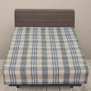 Одеяло п/ш (полушерсть) детское 420 гр/м2 полоса цвет синий 100/140 см