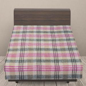 Одеяло п/ш (полушерсть) детское 420 гр/м2 полоса цвет розовый 100/140 см