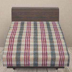 Одеяло п/ш (полушерсть) детское 420 гр/м2 полоса цвет бордо 100/140 см