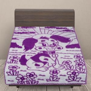 Одеяло п/ш жаккардовое детское 420 гр/м2 щенки цвет сиреневый 100/140 см